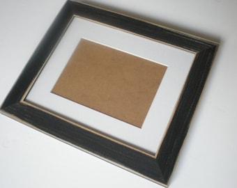 "Black frame 10x10"" frame photo shabby chic frame colourful frame picture frame distressed frame wood framewoodworking chicframeshop"