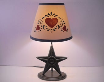 Country Star Lamp with Decorative Shade