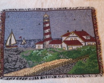 Lighthouse tapesty placemats