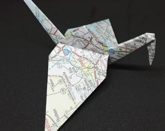 20 Origami Cranes, New England Map