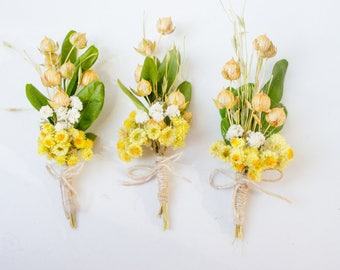 The boutonniere, a Bridal bouquet groom's, natural material, dried plants, bouquet, flower brooch,