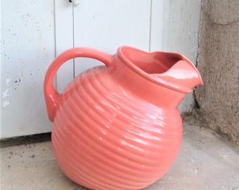 Vintage English Pitcher, 1930's pottery, English pottery,  art deco pitchers, water containers, wine pitchers