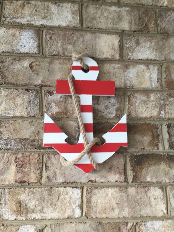 Anchors painted for outdoor or indoor home decorations. PVC wood for maintenance free.