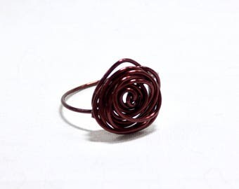 Wire Rose Ring