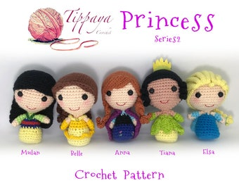Crochet pattern of 5 princess series 2