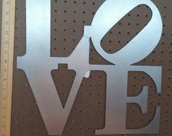 """Metal CNC 16"""" Love Sign"""