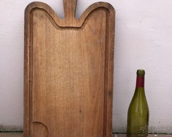 ANTIQUE VINTAGE FRENCH bread or chopping cutting board wood 1602173