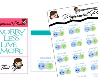 Change Contacts Planner Stickers, {#243}