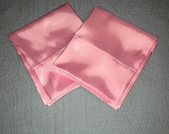 Valentine's Day Gift, Birthday Gift, Mother's Day Gift, Pink Satin Pillowcases, Cool to Touch Pillowcases