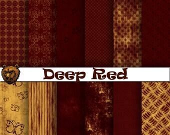 deep red digital paper, scrapbook paper, background paper