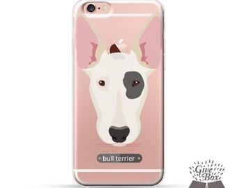 iPhone 7 case, iPhone 7 Plus case, Rubber iPhone case, Clear Samsung Galaxy case, iPhone 6 case, iPhone 6s case, S7 case, puppy bull terrier