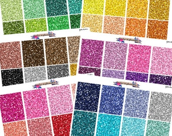 Glitter Headers, glitter stickers, glitter header planner sticker, planner stickers, header planner stickers, header stickers