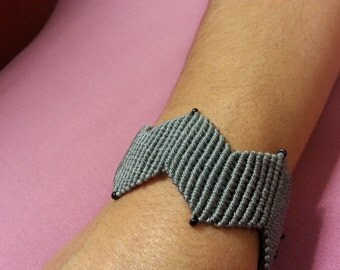 Micromacrame Bracelet Zig zag