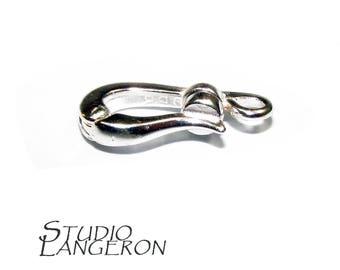 Sterling Silver Hook Eye Magnetic Clasps, Silver clasp, Clasp, Clasps, Hook eye clasp, Clasps, 925 Sterling silver, Silver clasp - 1 piece