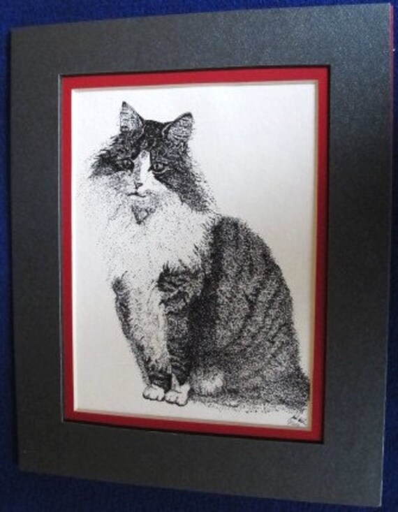 A Cat Called Ladyclaws: Limited pre-matted prints. Framing size 8x10