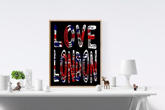 London, Love Sign, Love Signs, Love Print, Love Prints, Art Print, Art Prints, Wall Prints, Wall Art, Digital, Prints, Print Wall Art