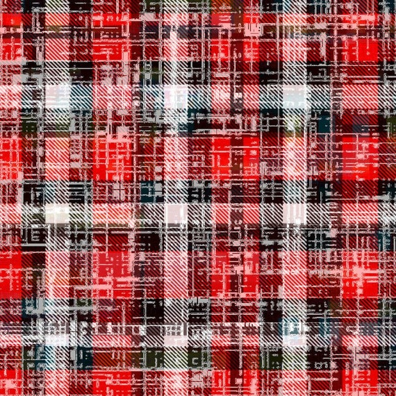Grunge the lumberjack plaid quilting fabric by the yard for Children s flannel fabric by the yard