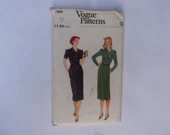 Vogue pattern  7404 misses dress size 10 factory folded unused