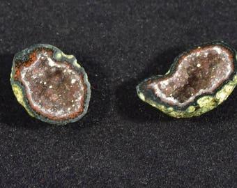 Small Tabasco Geode, Matching Pair