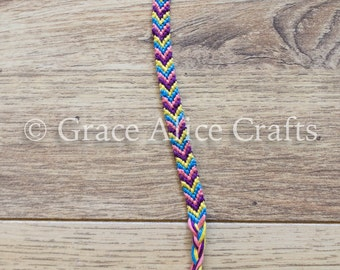 Rainbow Chevron Friendship Bracelet