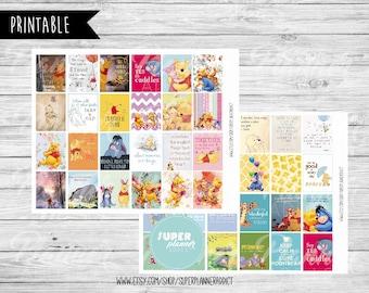 50% OFF SALE Winnie Pooh Stickers,Winnie Pooh planner,disney planner,full boxes,eclp,eclp disney,Erin Condren stickers,winnie pooh-COD191