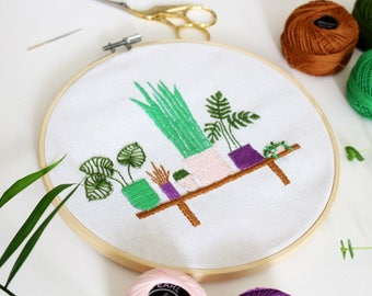 Embroidery Kit, DIY Kit, Cross Stitch Kit, Modern Cross Stitch, Plants Cross Stitch, Needlepoint Kit, Craft Kit, Embroidery Pattern