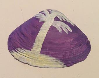 Small Purple Palm Tree Shell