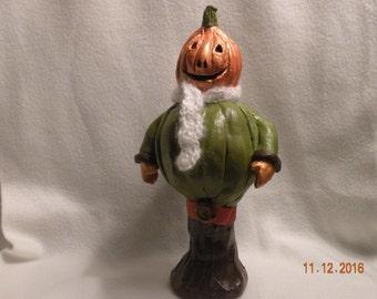 Pumpkin Man with white scarf