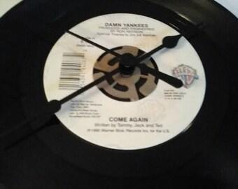 Damn Yankees 45 Record Clock - Come Again