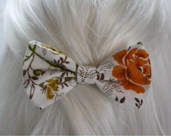 Vintage Floral Hair Bow