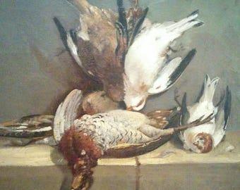 Francois B. de Blois Hanging Birds Painting