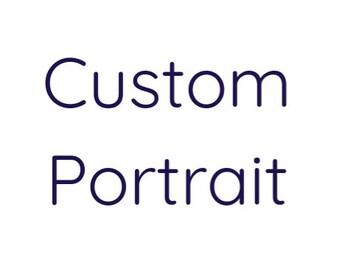 Custom Portraits. Acrylic Portraits. Fine Art.