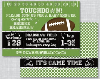 Football Baby Shower, Football Baby Shower Invites, Baby Shower Book Request, Football Baby Shower Invitations, BS2008