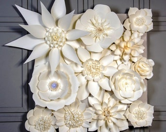 Giant Paper Flower Backdrop, Large Paper Flowers Wedding Backdrop, Wall Decorations, Photography Prop, Paper Flower Wall, Unique Flower Prop