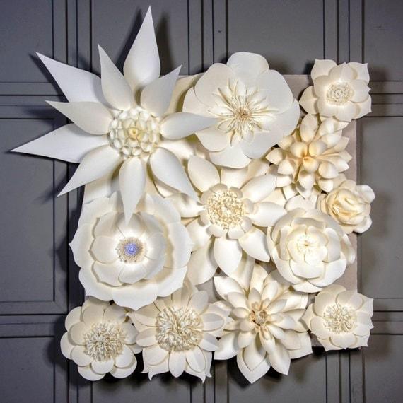 Giant Paper Flower Backdrop Large Paper Flowers Wedding