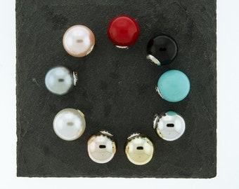 Pearl Back Earrings, Stopper, Silicone Stopper, Peekaboo Earrings