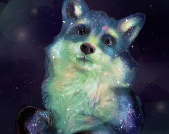 Space Fox Print