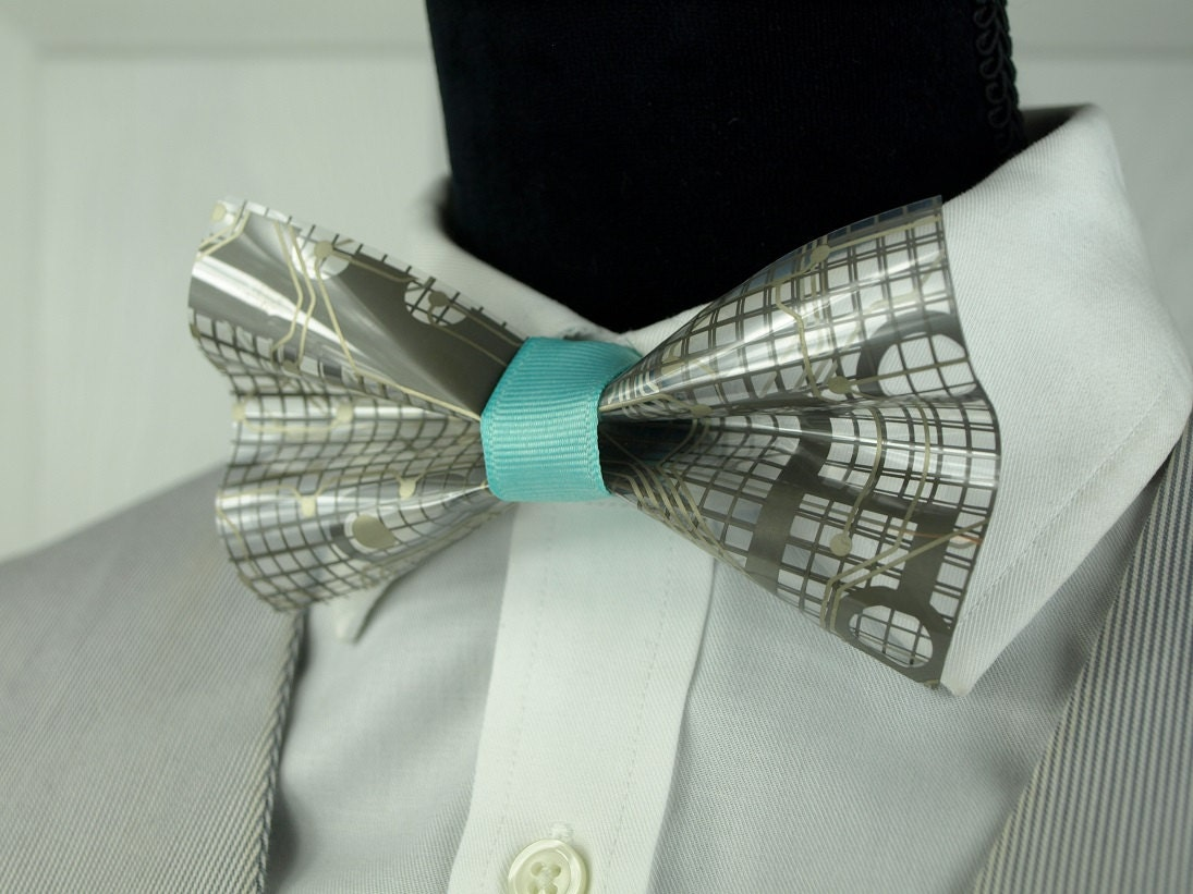 silver bow tie nerdy wedding light blue bow tie wedding
