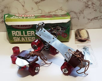 Vintage 1960s Unused Seiko Roller Skates, New in Box