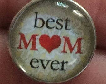 Best Mom Noosa Snap Charm