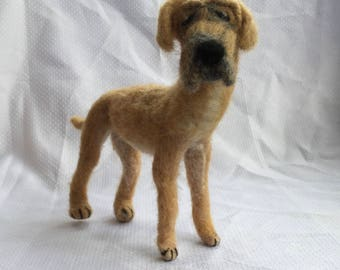 Needle-Felted Great Dane - Posable