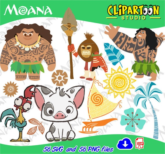 Moana Disney Vector Cliparts Svg And Png Graphic Instant
