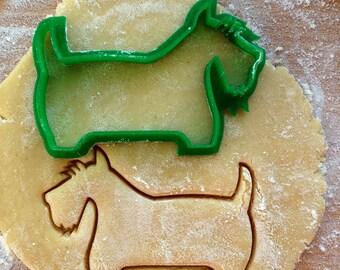 Scotty cookie cutter. Dog cookie cutter. Scotch terrier cookies
