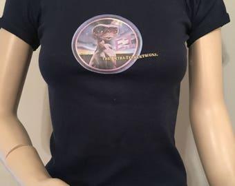 Vintage 1980s E.T. Navy Blue T-shirt