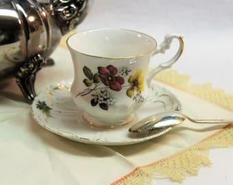 Royal Dover Bone China Tea Cup - England - Mismatched Saucer