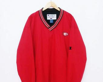 Hot Sale!!! Rare Vintage 90s CHAMPION GIANT NFL Pullover Windbreaker Jacket Hip Hop Skate Swag Extra Large Size