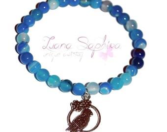 Pearls bracelet Blue Parrot