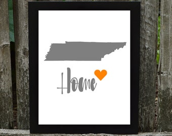 Tennessee Digital Download, Tennessee Print, States Downloadable Print