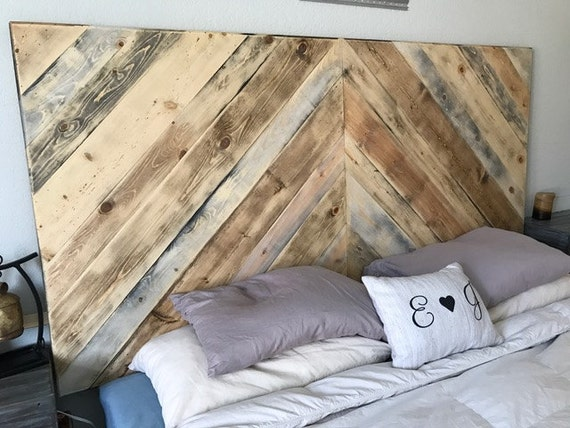 Rustic Headboard King Size Headboard Wood Headboard Real