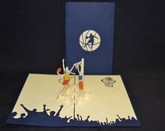3-D Basketball Pop-Up Card